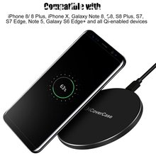 For Samsung Galaxy S8 Fast Wireless Charger Charging Pad Dock Power Case For Samsung S9 S9Plus S8 Plus Note8 Note 8 Qi Accessory
