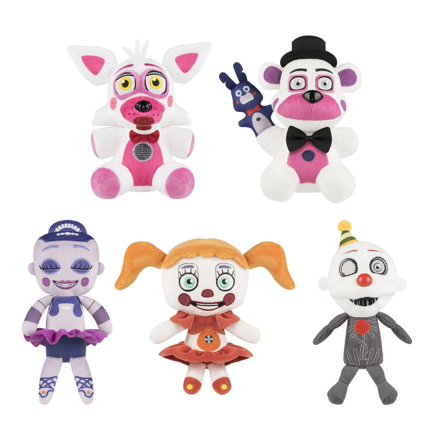 5pcs/lot FNAF Plush Toy Five Nights At Freddy's Sister