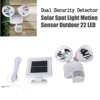 22 LED Solar Light Dual Security Detector Solar Poewered Spot Light Motion Sensor Outdoor Path Light