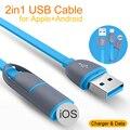 Новый 2in1 Usb Зарядное Устройство Кабель для Передачи Данных Для iPhone 6 Микро USB Кабель для Samsung Galaxy для HTC для LG Идеально Подходят 100 см