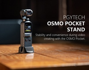 Image 3 - PGYTECH Handheld Stabilizer for DJI OSMO Pocket Supporting Base Desktop Stand OSMO POCKET Handheld Gimbal Accessories