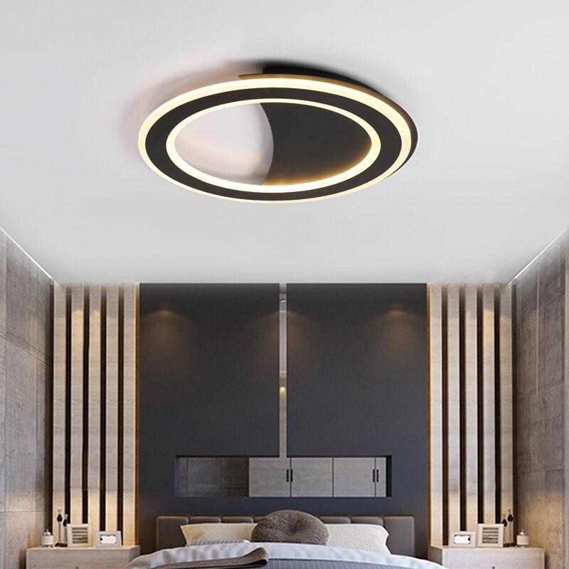 Us 95 94 22 Off Minimalis Putih Hitam Langit Lampu Gantung Led Untuk Ruang Tamu R Tidur Belajar Rumah Deco