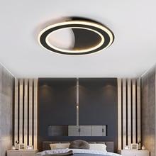 Minimalist White/Black ceiling Led Chandelier lights For Living room Bed Study led lamp Home Deco Modern chandelier