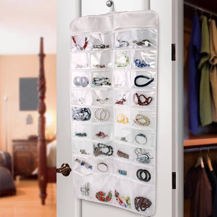 80 tasche reale Set Organizadores Organizador scatola appesa gioielli - Organizzazione e deposito in casa - Fotografia 2