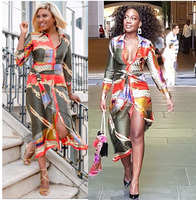 African Dresses for Women Print Long Dresses Vestido Bazin Riche Dashiki Women African Design Clothing