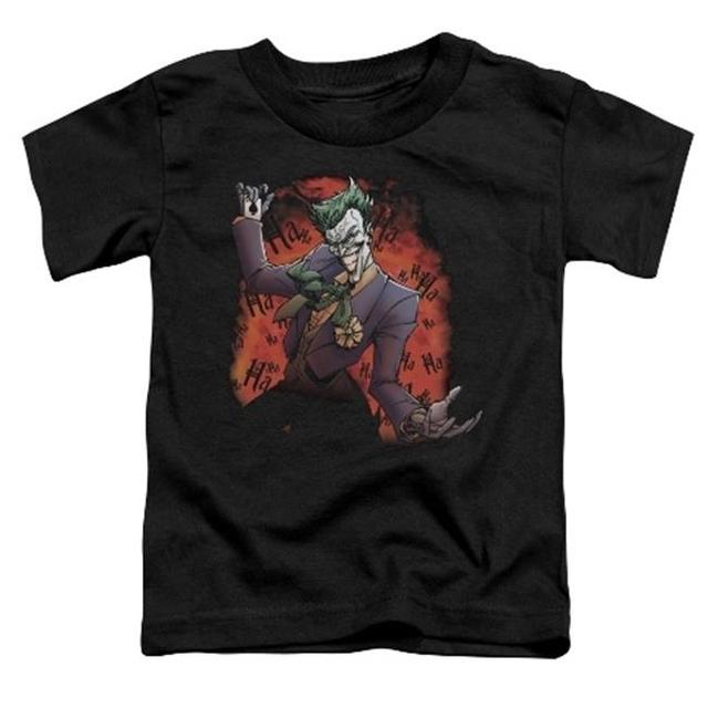 Trevco Batman-Jokers Ave – Short Sleeve Toddler Tee – Black Small 2T