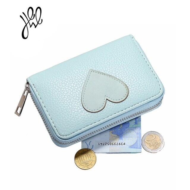 eefcd748df76c Nowa moda serce SKÓRZANY PORTFEL w portfele damskie piękny czerwony małe  torebki portfel urocza posiadacz karty