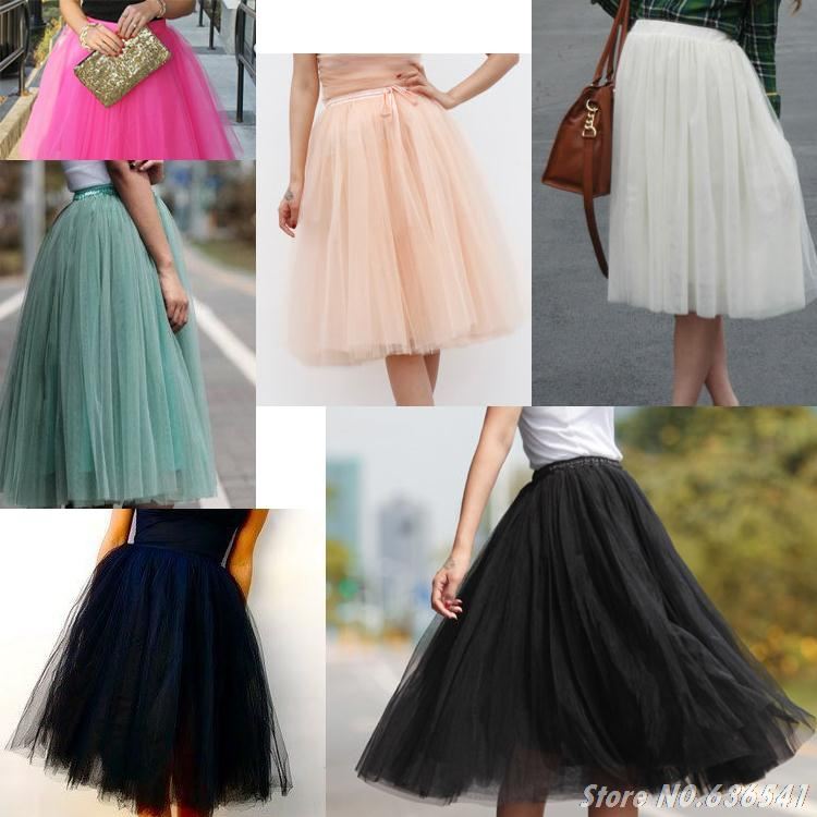 Custom Made Bouffante Tulle Skirt Lady Long Puff Adult Tutu Women Tule Saia Femininas Falda Jupe Rock Gonna Ball Gown In Skirts From Womens Clothing