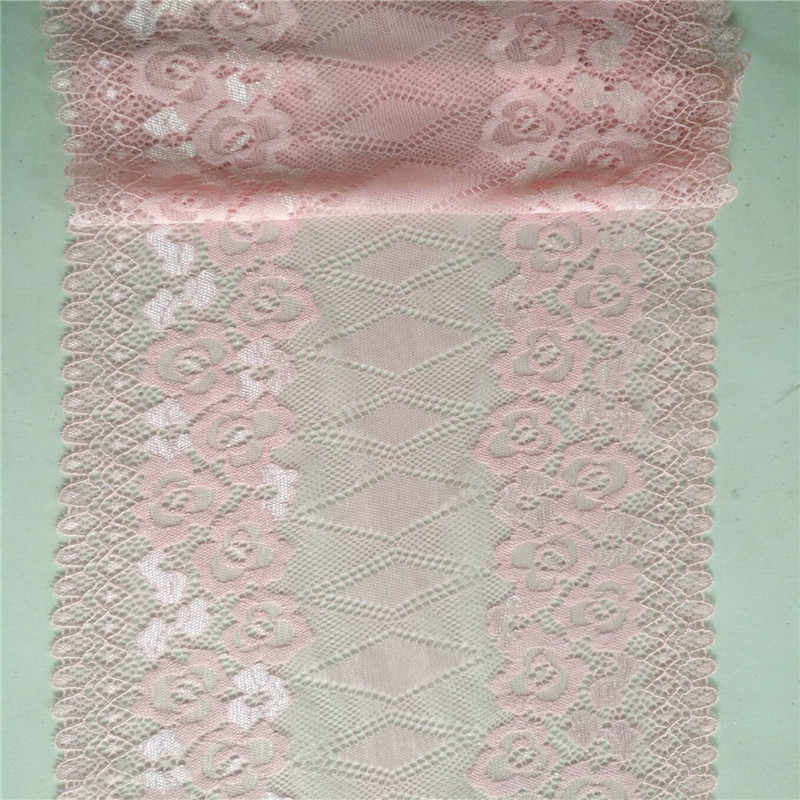 1Yard Many pink flower shapes Lace Fabric DIY Crafts Sewing Suppies Decoration Accessories For Garments Elastic Lace Trim