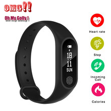 Smart Armband M2 Smart Band Waterdicht Hartslag Slaap Monitor Fitness Tracker Bluetooth Polsband voor iOS Android Telefoon M3S(China)