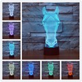 7 color changing 3D Lamp Pokemon Snap illusion LED lamp for kids toy Christmas gifts Night Light Led Desk Lamp