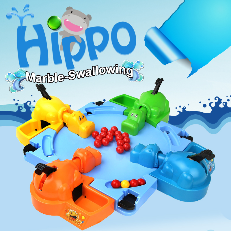 Funny Toy Feeding Hippo Balls Marble-swallowing Novelty Toy Hungry Hippo Desktop Game For 4 Person New Fancy Toy For Children