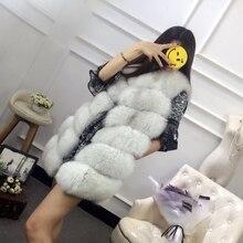 MIARA.L fox fur fur vest female long mink fur vest vest cultivate one's morality show thin joker faux fur coat wholesale недорого