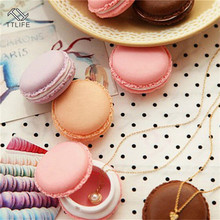 TTLIFE Portable Candy Color Mini Cute Macarons Jewelry Ring Necklace Pills Beads Carrying Case Organizer Home Storage Box Decor