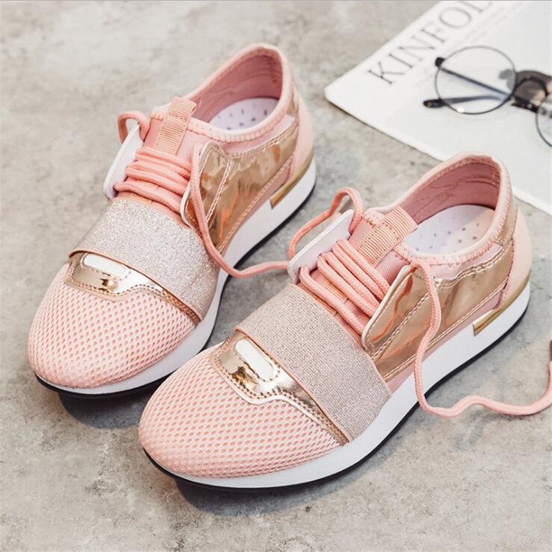 01eca2e3266 US $17.93 31% OFF|2019 Spring Women New Sneakers Autumn Soft Comfortable  Casual Shoes Fashion Lady Flats Breathable Female shoes for student-in ...
