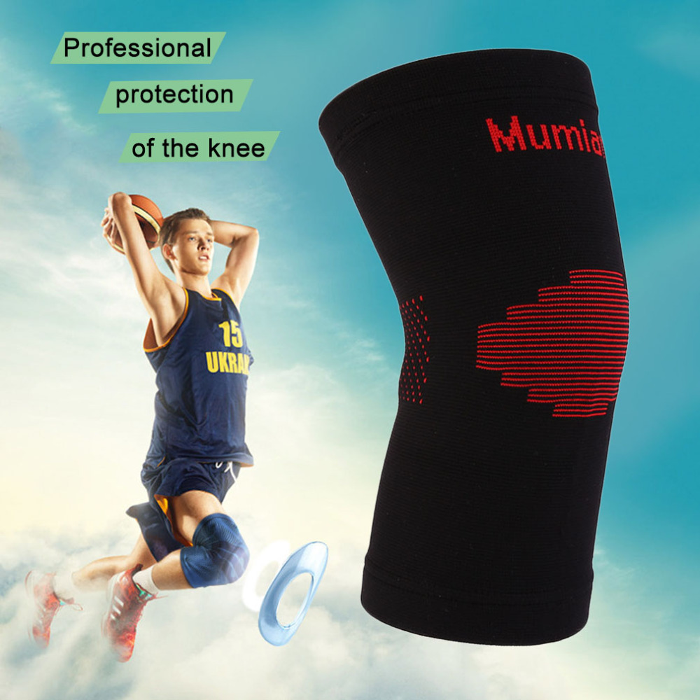 Hot! Knitted Keep Warm kneepad shortlong leg sleeve Sport Safety Basketball KneePads Tape Elbow Knee Support Brace Pad Protector