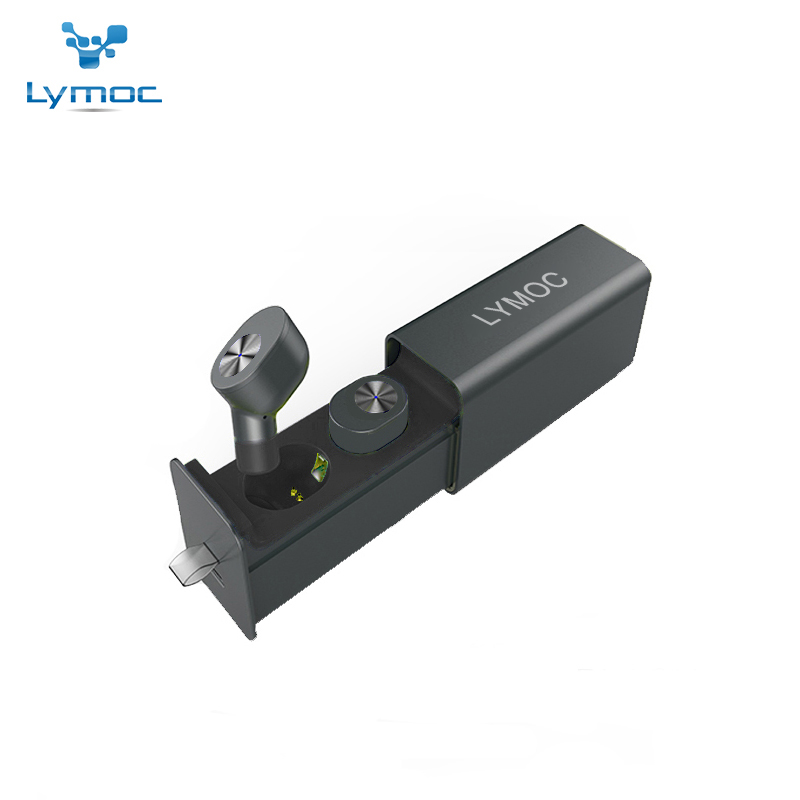 LYMOC TWS Headsets Wireless Bluetooth Mini Earphones Metal V4.2 Earbuds Stereo Noise Cancelling HD MIC for iPhone Android Phone