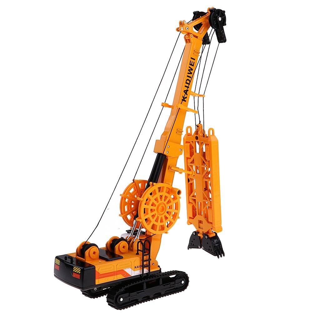 1: 64 Mini véhicule de forage 360 rotatif moulé sous pression modèle de voiture d'ingénierie jouets éducatifs cadeau d'anniversaire pour enfants enfants en bas âge