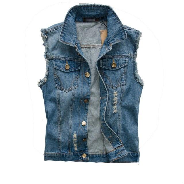 Connu DIMUSI 2017 Hommes Veste En Jean Vintage Sans Manches lavé jeans  IA09