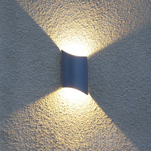 Купить с кэшбэком IP54 waterproof outdoor wall lamps black/gray dustproof balcony wall sconce residential villa community eclairage exterieur