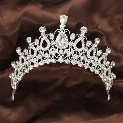 Роскошная кристалльная тиара из горного хрусталя корона волос палочки головной убор невесты выпускного вечера элегантные модные резинки