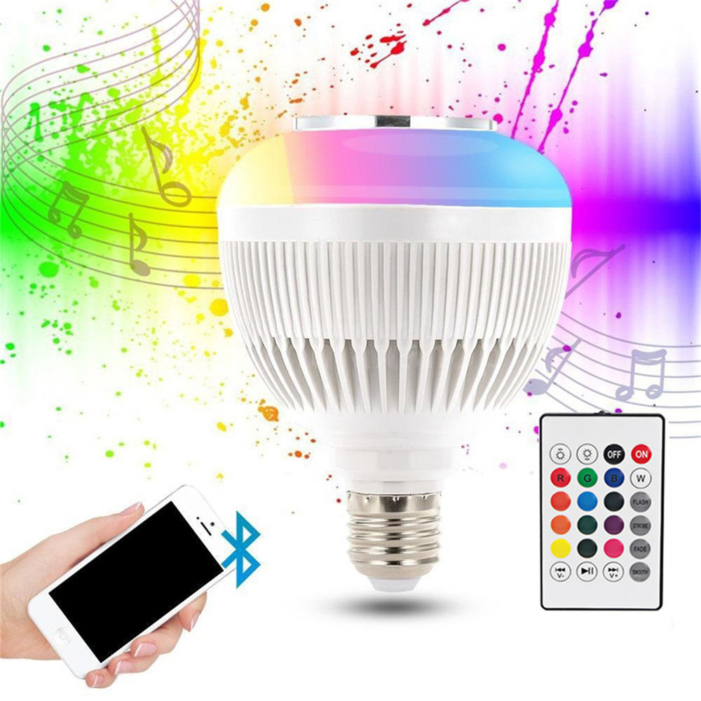 Bluetooth Speaker Led Light Bul 16 Multi Color Changing