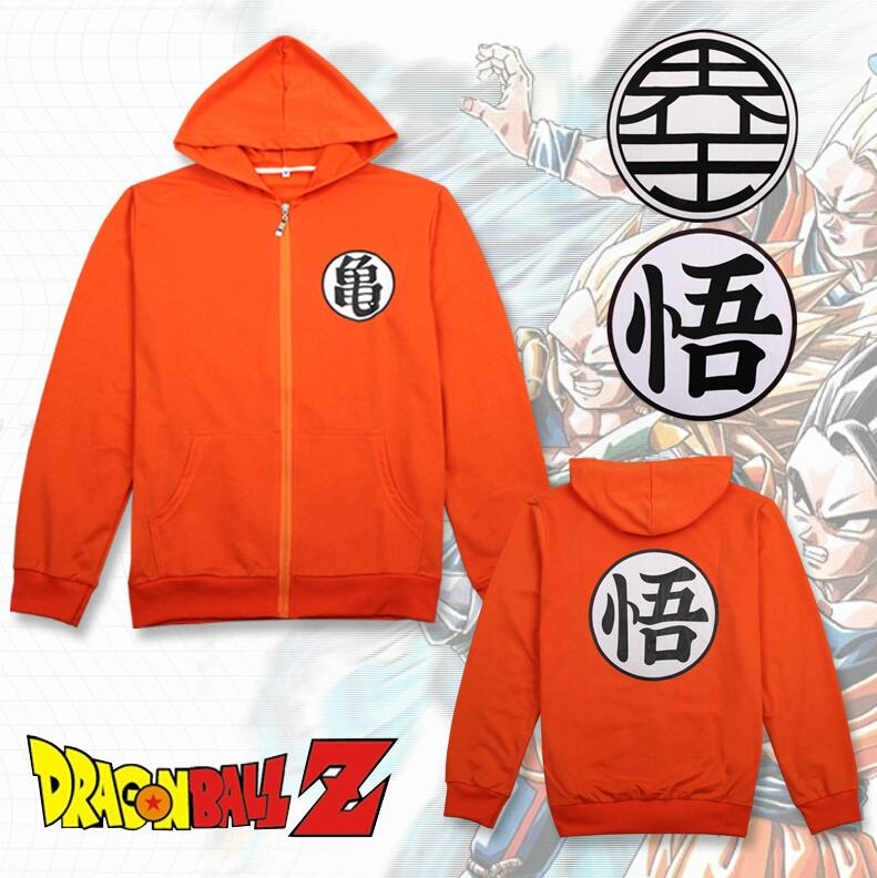 2Colors Anime Dragon Ball Z Son Goku Master Roshi Sweatshirt Cosplay Costumes Orange Hooded  Hoodie Daily Casual Jacket