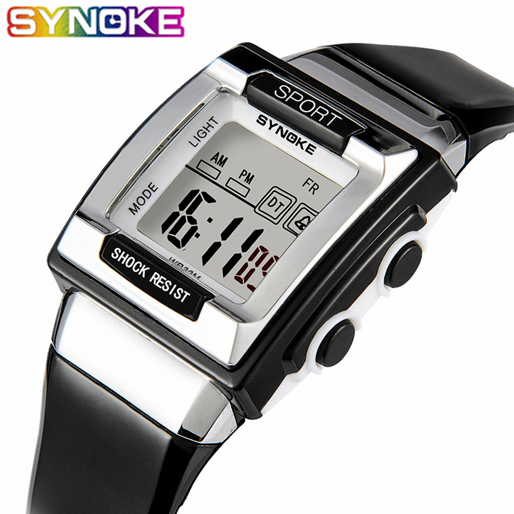 SYNOKE Children Wrist Watch Waterproof Silicone Digital Watches Kids Fashion LED Sport Watch Students Watches Hour Clock Gift