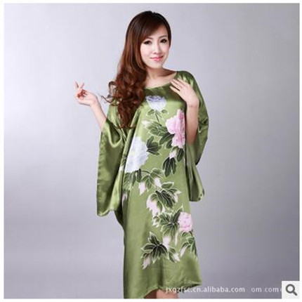 Fashion new 2019 female   nightgowns   silk night dress casual loose ladies sleepwear   sleepshirts   summer dresses for women A433