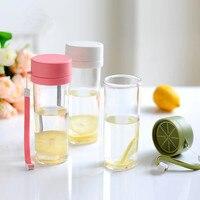 Hot 480ml Summer Portable Bottles Creative Lemon Plastic Kettle Health Environmental Protection Materials Summer Portable Bottle