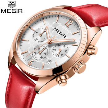 MEGIR Women Watch Top Brand Luxury Chronograph Date Female Clock Classic Business Quartz Lady Wristwatch relogio feminino 2115