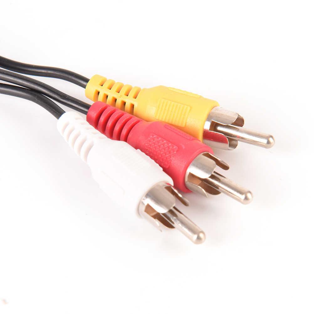 1 Pc wtyczka jack 3.5mm męski na 3 RCA złącza adapterów 3.5 na męski RCA Audio wideo kabel AV przewód 1.5 M