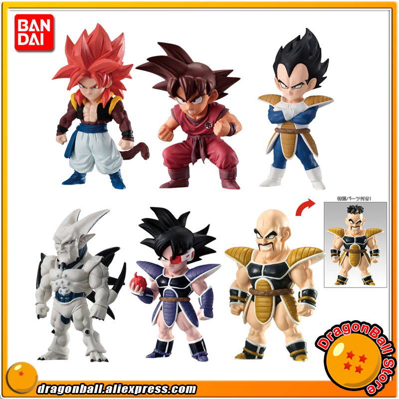 Anime Dragon Ball Original BANDAI ADVERGE 08 Collection Figure Full Set of 6 Pcs Nappa Turles Vegeta Goku Gogeta Syn Shenron