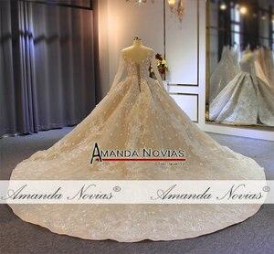 Image 3 - 2019 gelinlik formal dress long sleeves wedding dress