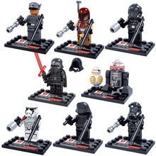 8pcs/lot Star Wars Light swords Stormtroopers Jedi Knight Darth Vader BB-8 Legoings Building Blocks Kit Toys Kids Gifts(China)