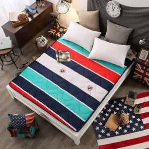 Image 5 - Aksamitny materac gruby ciepły składany flanelowy materac studencki moda nowy Topper pikowane łóżko tekstylia domowe