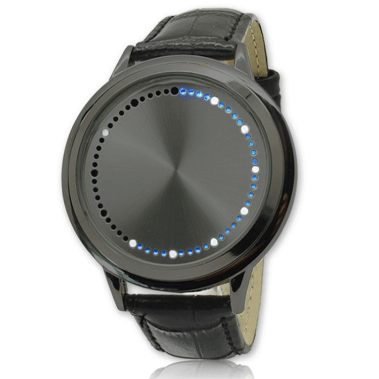 moda led esporte masculino pulseira de couro relógio montre homme reloj