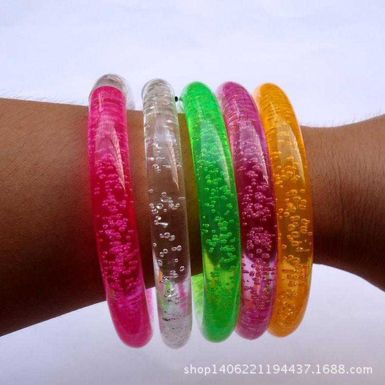 Colorful changing LED bracelet Light up Bracelet flashing Acrylic glowing bracelet toys party decoration supplies