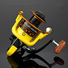 Spinning mini Fishing Reel Metal Spool 12bb for Freshwater Saltwater 1000 2000 3000 4000 5000 6000 7000 Series Wood handle reels цена 2017