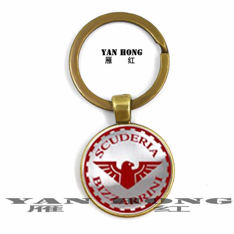 ファッションキーチェーン。世界的に有名な自動車ロゴ、手作り 25 ミリメートルガラスクリスタル、 Yanhong ジュエリー。レトロペンダント。