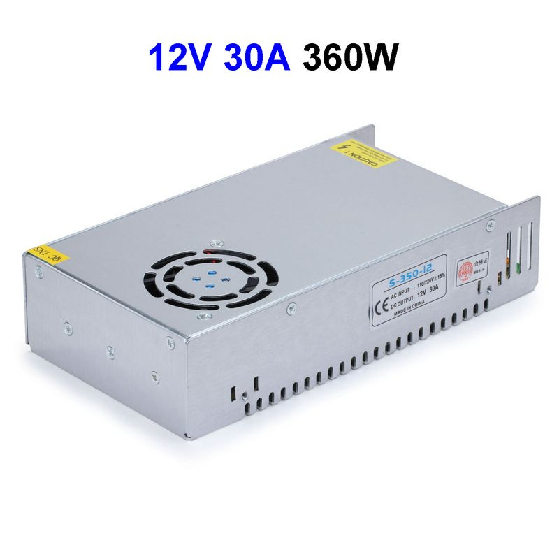 CCTV Cameras DC12V 30A 360W Switching Power Supply Adapter Driver Transformer For LED Strip Light power supply 24v 800w dc power adapter ac110 220v non waterproof led driver 33a ups for strip lamps wholesale 1pcs