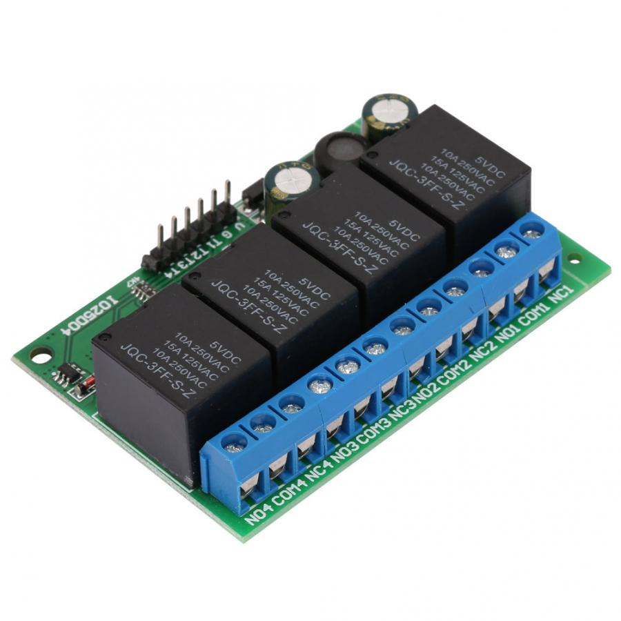 1Pc DC6-24V <font><b>4CH</b></font> <font><b>12V</b></font> Low Pulse Trigger Self-locking <font><b>Relay</b></font> <font><b>Module</b></font> Interface Board delay <font><b>relay</b></font> voltage image