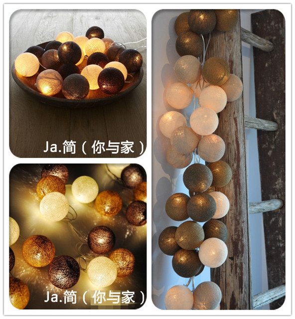 Free shipping 20 Balls/Set 3M Colorful Holiday lights lamp/String Cotton Light Holidays Decorations