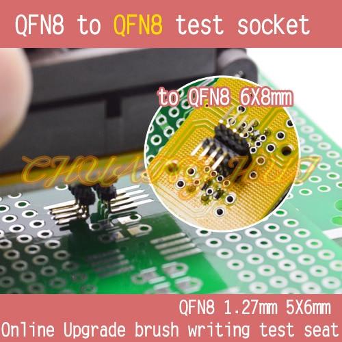 IC TEST WSON8 QFN8 5x6mm to DFN8 QFN8 6x8mm test socket DFN8 WSON8 MLF8 to QFN8 socket Pitch=1.27mm
