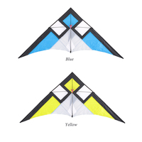290*135cm Wide Single Line Stunt Kite Children Adults Delta shape Triangle Fly Kite Flyer for Beach Vacation Family Fun toys