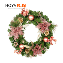 HOYVJOY Christmas Wreaths Artificial New Year Garlands for Home Decorations  Diy Wreath Material