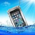 """Impermeable subacuática cubierta de la cubierta caso inoxidable para apple iphone 6 plus 5.5 """"caja Del Teléfono Móvil negro 40 m Profundidad de inmersión"""