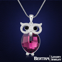 Latest Style Owl Long Necklace Sweater Chain Colar Coruja With Swarovski Elements Crystals For Women Choker