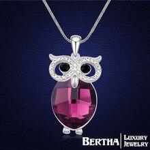 Dernières Style hibou Long collier chaîne de chandail Colar Coruja avec cristaux Swarovski Elements pour les femmes Choker bijoux Top qualité