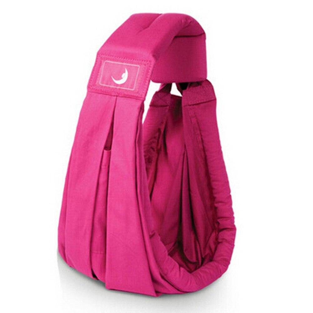 Детский рюкзак-кенгуру для переноски детей несущая переноска для новорожденных Удобная противоскользящая сумка 4 цвета - Цвет: rose red
